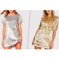 Image of Gold Bow Mini Dress