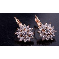 18k Gold-plated Flower Stud Earrings