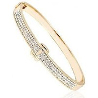 Image of Gold Crystal Bangle Cuff