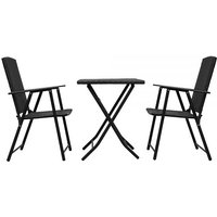 'Rattan Folding Garden Table & 2 Chairs