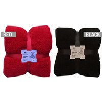 'Soft Large Teddy Throw - 9 Colours