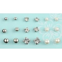 Image of Faux Pearl Necklace & Earrings Set