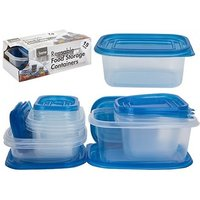 15-Piece Reusable Food Storage Containers