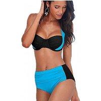 Colour Block Halter Bikini – 5 Colours