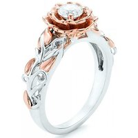 Rose Style Ring Made with Crystals from Swarovski – 2 Colours