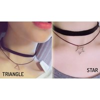 Image of Retro Stretch Choker Necklace 10 Colours