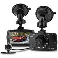 HD Front & Rear Dash Cam + Collision G-Sensor