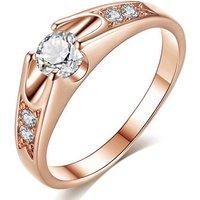 18k Rose Gold-plated Swarovski Elements Ring - 6 Sizes