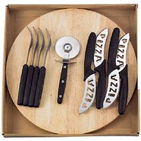 10 Piece Pizza Knife Set With Cutting Board