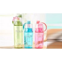 PushButton Water Spray Bottle – 2 Sizes & 3 Colours