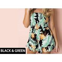 Floral Off-Shoulder Strapless Jumpsuit – 4 Colours & 3 Sizes