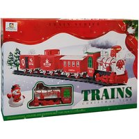 XL Festive Steam Train Set With 4 Track Options - Emits Puffs of