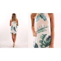 Palm Print Beach Dress – 2 Colours & 3 Sizes