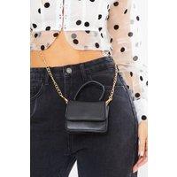 Black Bags - Small Black Gold Chain Bag