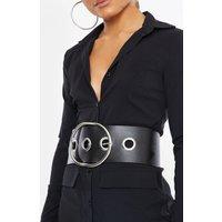 Black Belts - Black with Silver Eyelet Belt