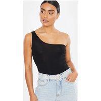 Black bodysuits - basic black one shoulder bodysuit