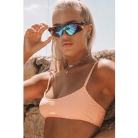 Black Sunglasses - Lottie Tomlinson Reflective Sporty Sunglasses