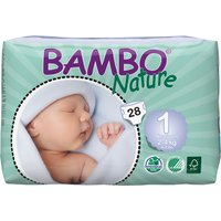 Bambo Nature Disposable Nappies - New Born - Size 1 - Pack of 28