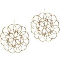 Limited Edition Believer Jewellery by Inkana Recycled Silver Fibonacci Earrings