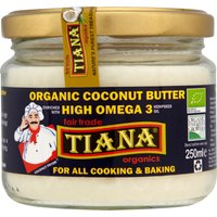 Tiana Organic High Omega 3 Coconut Butter - 250ml