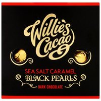 Willies Cacao Black Pearls - Sea Salt Caramel Dark Chocolates - 150g.