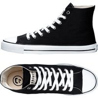 Ethletic Fairtrade Hi Top Trainers - Black & White.