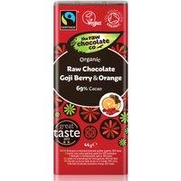 The Raw Chocolate Co Goji Berry & Orange Chocolate Bar - 44g