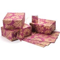Christmas Snowflake Gift Wrap - Set of 4 - Burgundy