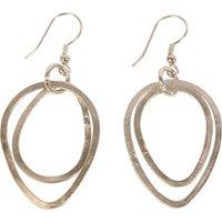 Fair Trade Silver Colour Double Hoop Earrings