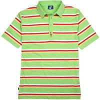 Striped Arnie Polo Shirt - Lime