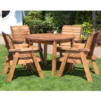 Four Seater Outdoor Circular Table Set