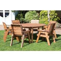 Six Seater Outdoor Circular Table Set