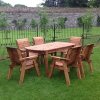 Six Seater Outdoor Table Set - With Seats