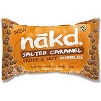 Nakd Salted Caramel Gluten Free Fruit & Nut Nibbles - 40g