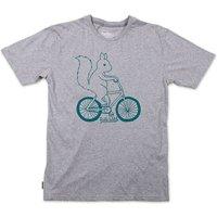 Silverstick Mens Ride Wild Organic Cotton T-Shirt - Grey Marl