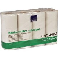 Abena 100% Recycled Single Embossed 2-Ply Kitchen Roll - Pack Of 4