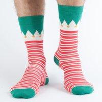 Doris & Dude Red Stripe Christmas Bamboo Socks - Uk7-11