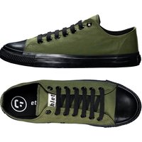 Ethletic Fairtrade Trainers - Camping Green & Jet Black.