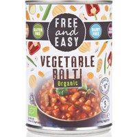 Free & Easy Organic Vegetable Balti - 400g.