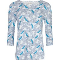 Mudd & Water Sure Thing Top - White Leaf Print