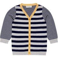 Sense Organics Navy & Grey Stripe Jean Jacket