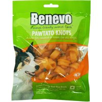 Benevo Vegan Pawtato Knots Vegan Dog Chews - 150g.