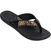Rider Womens Cloud IV Sandals - Black & Snakeskin