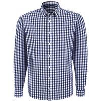 Organic Cotton Casual Longsleeve Shirt - Blue Check