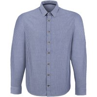 Organic Cotton Casual Long Sleeve Shirt - Blue Stripe