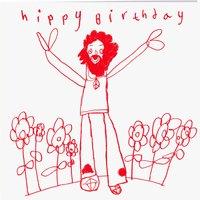 Arthouse Meath Charity Hippy Birthday Card