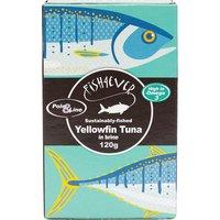 Fish 4 Ever Yellowfin Tuna Fish in Brine - 120g.