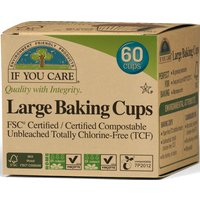 If You Care Compostable Unbleached Baking Cups - Large