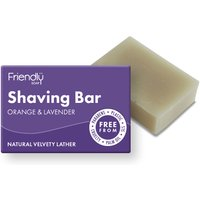 Friendly Soap Natural Shaving Soap Bar - Orange & Lavender - 95g.
