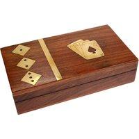 Sheesham Wood Card & Dice Box